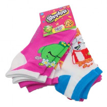 Shopkins 5 Pack Socks (One size) Size Range 6-8.5