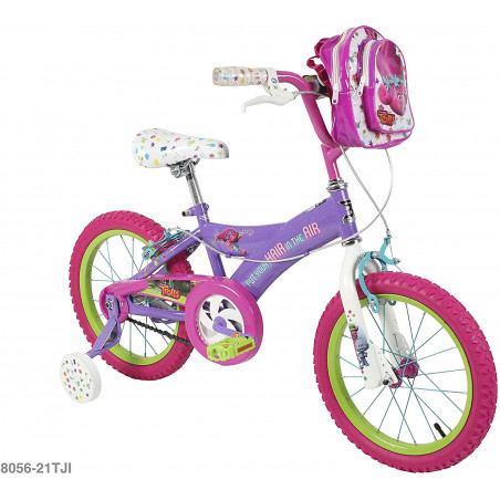 "Trolls 16"" Kids' Bike with Training Wheels - Purple/Pink"