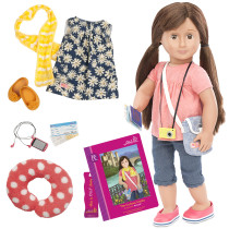 DLX REESE TRAVEL DOLL & BOOK