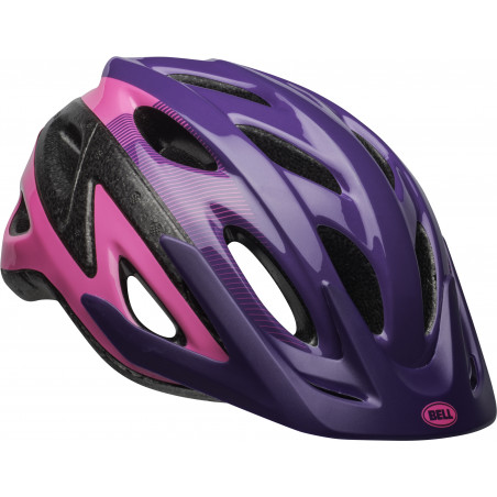 Bell Axle Bike Helmet, Repose Pink/purple, Youth 8+ (52-58cm)