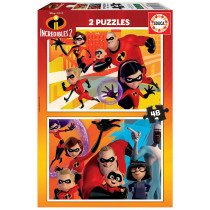 Puzzle 2X48 THE INCREDIBLES 2