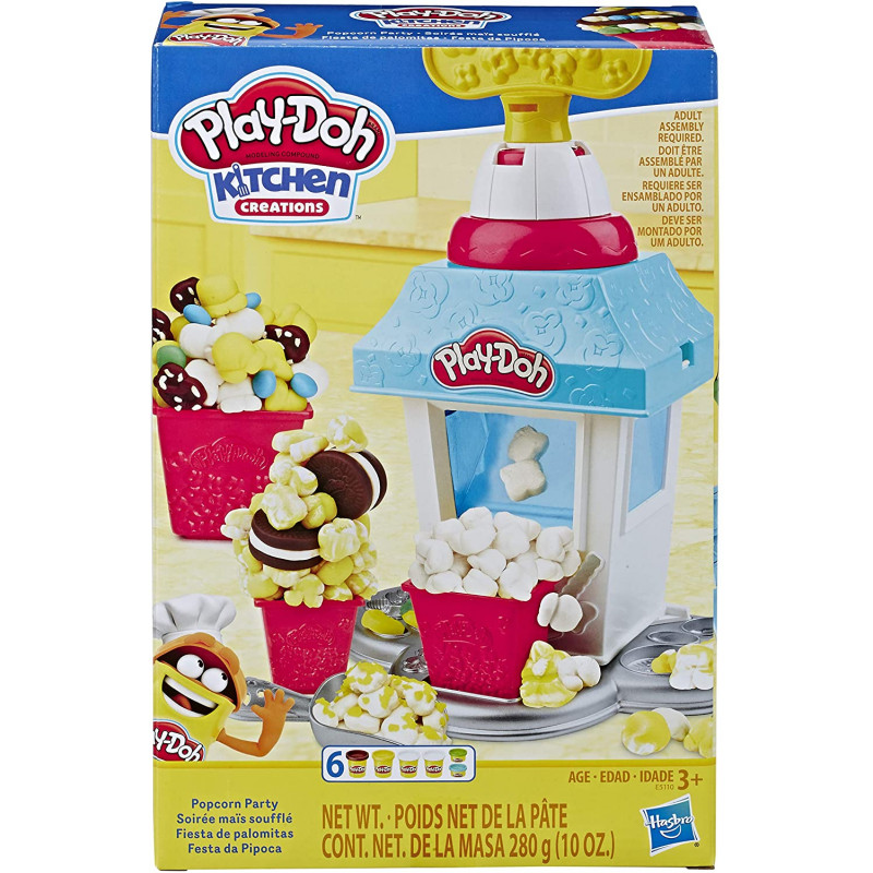 Play Doh Kitchen Creations Popcorn Party Play Food Set With 6 Cans