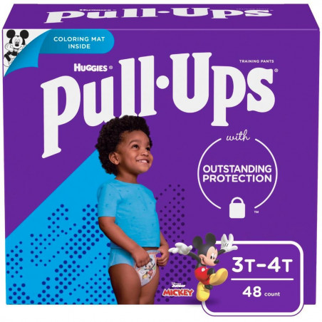 Huggies Pull-Ups Boys' Learning Designs Training Pants, Size 3T-4T, 48 Count