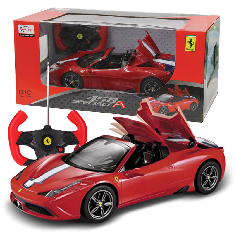 R C 1 14 Ferrari 458 Speciale A Convertible Version With Usb Charging Cable Red