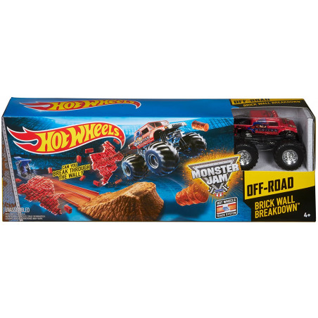 Hot Wheels Off-Road Brick Wall Breakdown Monster Jam