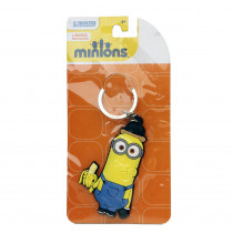 Minions Kevin rubber keychain