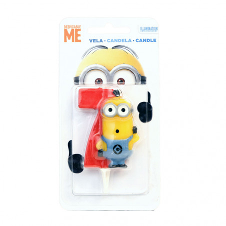 Despicable ME Minions Birthday Candle 7