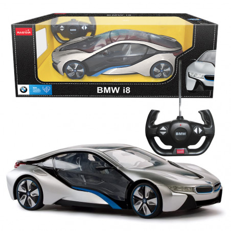 Special Offer of R/C 1:14 BMW I8 with interior light-Silver