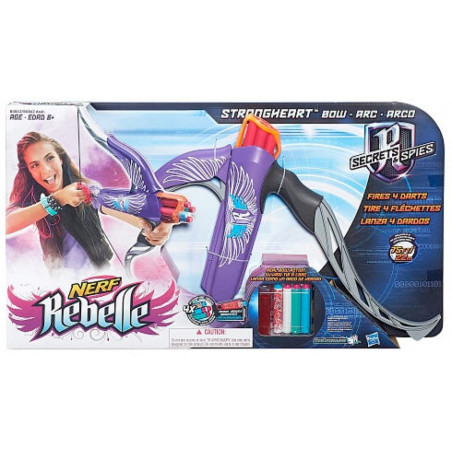 NERF REBELLE STRONGHEART BOW AST - PURPLE