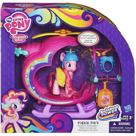 MLP PINKIE PIES RAINBOW HELICOPTER - Pink