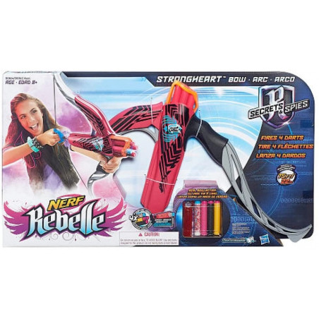 NERF REBELLE STRONGHEART BOW AST - PINK